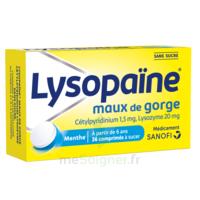 LysopaÏne Comprimés à Sucer Maux De Gorge Sans Sucre 2t/18 à Saint-Vallier