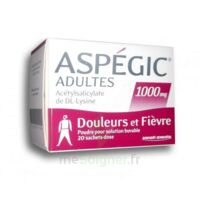 ASPEGIC ADULTES 1000 mg, poudre pour solution buvable en sachet-dose 20 à Saint-Vallier
