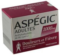 ASPEGIC ADULTES 1000 mg, poudre pour solution buvable en sachet-dose 15 à Saint-Vallier