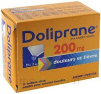 Doliprane 200 Mg Poudre Pour Solution Buvable En Sachet-dose B/12 à Saint-Vallier