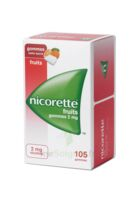 Nicorette 2 mg Gomme à mâcher médicamenteuse sans sucre fruits Plq/105 à Saint-Vallier