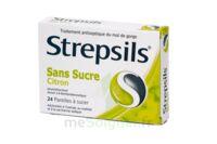 Strepsils Citron Sans Sucre, Pastille édulcorée à L'isomalt, Au Maltitol Et à La Saccharine Sodique