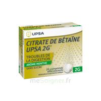 Citrate de Bétaïne UPSA 2 g Comprimés effervescents sans sucre menthe édulcoré à la saccharine sodique T/20 à Saint-Vallier