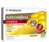 Arkoroyal Dynergie Ginseng Gelée royale Propolis Solution buvable 20 Ampoules/10ml à Saint-Vallier