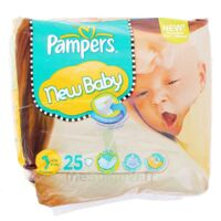 PAMPERS COUCHES NEW BABY TAILLE 1 2-5 KG x 25 à Saint-Vallier