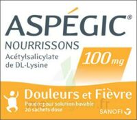 Aspegic Nourrissons 100 Mg, Poudre Pour Solution Buvable En Sachet-dose à Saint-Vallier