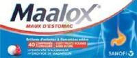 MAALOX MAUX D'ESTOMAC HYDROXYDE D'ALUMINIUM/HYDROXYDE DE MAGNESIUM 400 mg/400 mg SANS SUCRE FRUITS ROUGES, comprimé à croquer édulcoré à la saccharine sodique, au sorbitol et au maltitol à Saint-Vallier