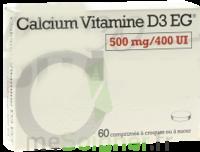 CALCIUM VITAMINE D3 EG 500 mg/400 UI, comprimé à croquer ou à sucer à Saint-Vallier