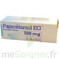 Paracetamol Eg 500 Mg, Comprimé à Saint-Vallier