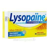 LYSOPAÏNE Comprimés à sucer maux de gorge miel citron sans sucre 2T/18 à Saint-Vallier