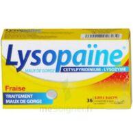 LYSOPAÏNE MAUX DE GORGE CETYLPYRIDINIUM LYSOZYME FRAISE SANS SUCRE, comprimé à sucer édulcoré au sorbitol et à la saccharine à Saint-Vallier