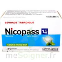 Nicopass 1,5 mg Pastille sans sucre menthe fraîcheur Plq/96 à Saint-Vallier
