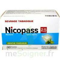 Nicopass 2,5 mg Pastille menthe fraîcheur sans sucre Plq/96 à Saint-Vallier