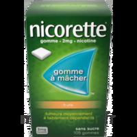 Nicorette 2 mg Gomme à mâcher médicamenteuse sans sucre fruits Plq/30 à Saint-Vallier
