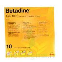Betadine Tulle 10 % Pans Méd 10x10cm 10sach/1 à Saint-Vallier