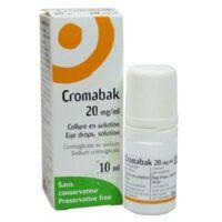 CROMABAK 20 mg/ml, collyre en solution à Saint-Vallier
