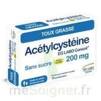 ACETYLCYSTEINE EG LABO CONSEIL 200 mg SANS SUCRE, poudre pour solution buvable en sachet-dose à Saint-Vallier