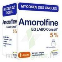 AMOROLFINE EG 5 % V ongles médicamenteux 1Fl/2,5ml+10 spat à Saint-Vallier