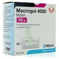 Macrogol 4000 Mylan 10 G, Poudre Pour Solution Buvable En Sachet-dose à Saint-Vallier