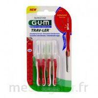 GUM TRAV - LER, 0,8 mm, manche rouge , blister 4 à Saint-Vallier