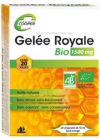 Cooper Gelée Royale Bio 1500 Mg Solution Buvable 20 Ampoules/10ml à Saint-Vallier