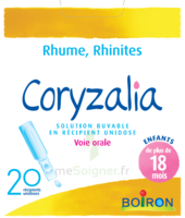 Boiron Coryzalia Solution Buvable Unidose B/20 à Saint-Vallier