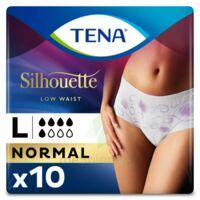 Tena Lady Silhouette Slip Absorbant Blanc Normal Large Paquet/10 à Saint-Vallier