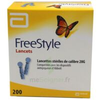 Freestyle Lancets Lancettes Stériles De Calibre 28g B/200 à Saint-Vallier