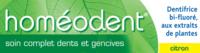 Boiron Homéodent Soin Complet Dents et Gencives Pâte Dentifrice Citron T/75ml